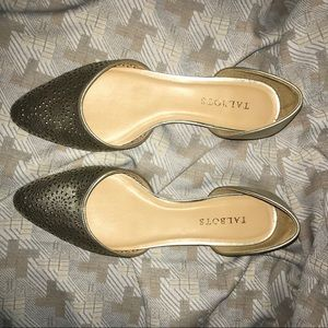 Talbots Gold Genuine Leather Pointed Toe Flats